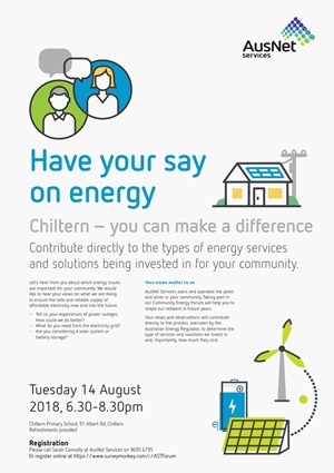 AusNet Services  Chiltern  Have your say on energy  Poster
